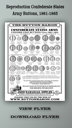 Reproduction Confederate States Army Buttons - Arny Buttons, 1861 - 1865